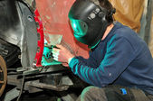 Welding car body. — Stock Photo