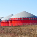 Bio fuel tanks. — Stock Photo