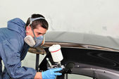 Professional car painting. — Stock Photo