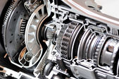 Gearbox and clutch cross-section. — Stock Photo