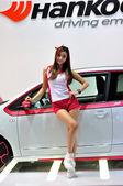 Hankook model on IAA 2013 — Stock Photo