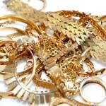 Gold jewelry. — Stock Photo