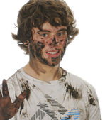 Muddy boy — Stock Photo