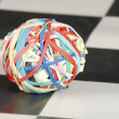 Elastic band ball - Stock Photo