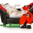 drunk santa — Stock Photo