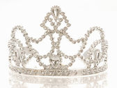 Crown or tiara isolated on a white background with reflection — Stock Photo