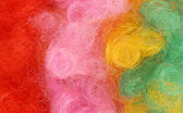 Close up details of colorful clown wig hair — Stock Photo