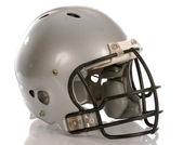 Grey football helmet — Stock Photo