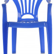 Blue plastic child's chair  — 图库照片