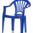 Blue plastic child's chair — Stock Photo