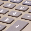 Calculator buttons with selective focus on the plus sign — Stock Photo