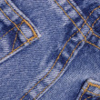 Details from the back pocket of demin jeans — Stock Photo