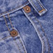 Details from the front pocket of demin jeans — Stock Photo