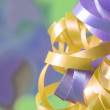 Close up of ribbon details with blurred background — Stock Photo