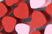 Red and pink hearts background suitable for romantic theme — Stock Photo