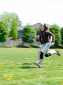 Public school level 100 metre dash at track and field event — ストック写真