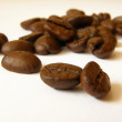 Close up details of whole coffee beans - Stock Photo
