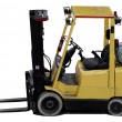 Industrial forklift with forks - Stock Photo