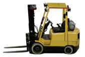 Industrial forklift with forks — Stock Photo