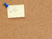 Honey do note posted on cork board — Stock Photo