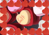 Candied heart with message I'll wait — Stock Photo
