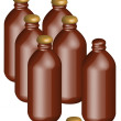 Brown bottles — Stock Photo