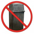 Stock Photo: Garbage bin with no or don't symbol - no dumping