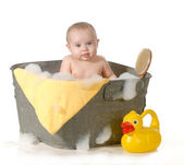 Baby bathtime — Stock Photo