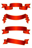 Red banners/scrolls/ribbons vector set — Stock Vector