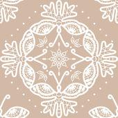 Seamless crochet background with butterflies — Stock Vector