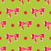 Christmas background with bows and polka dots — Stock Vector
