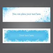 Banners/headers with snowflakes for winter design — Stock Vector