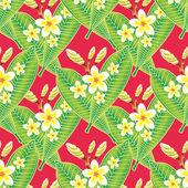 Seamless background with frangipani flowers — Stock Photo