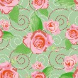 Royalty-Free Stock Vector Image: Seamless background with pink rose flowers