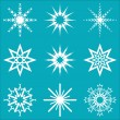 Snowflakes vector set — Stock vektor