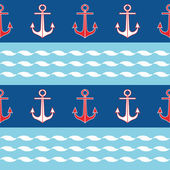 Background with anchors and stripes — Stock Vector