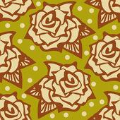 花とヴィンテージのパターン — ストックベクタ