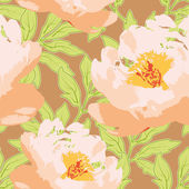 Seamless background with peonies — Stock Vector