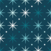 Christmas pattern with snowflakes — Stock Vector