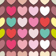 Seamless pattern with hearts,vector illustration - Stock Vector