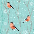 Seamless winter christmas pattern — Imagen vectorial