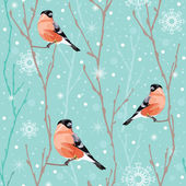Seamless winter christmas pattern — Stock Vector