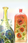 Vases with paintings — Stock Photo