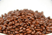 Zoomed coffee beans — Stock Photo