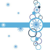 Christmas background with snowflakes vector — Stok Vektör