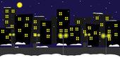 City_night — Stock Vector
