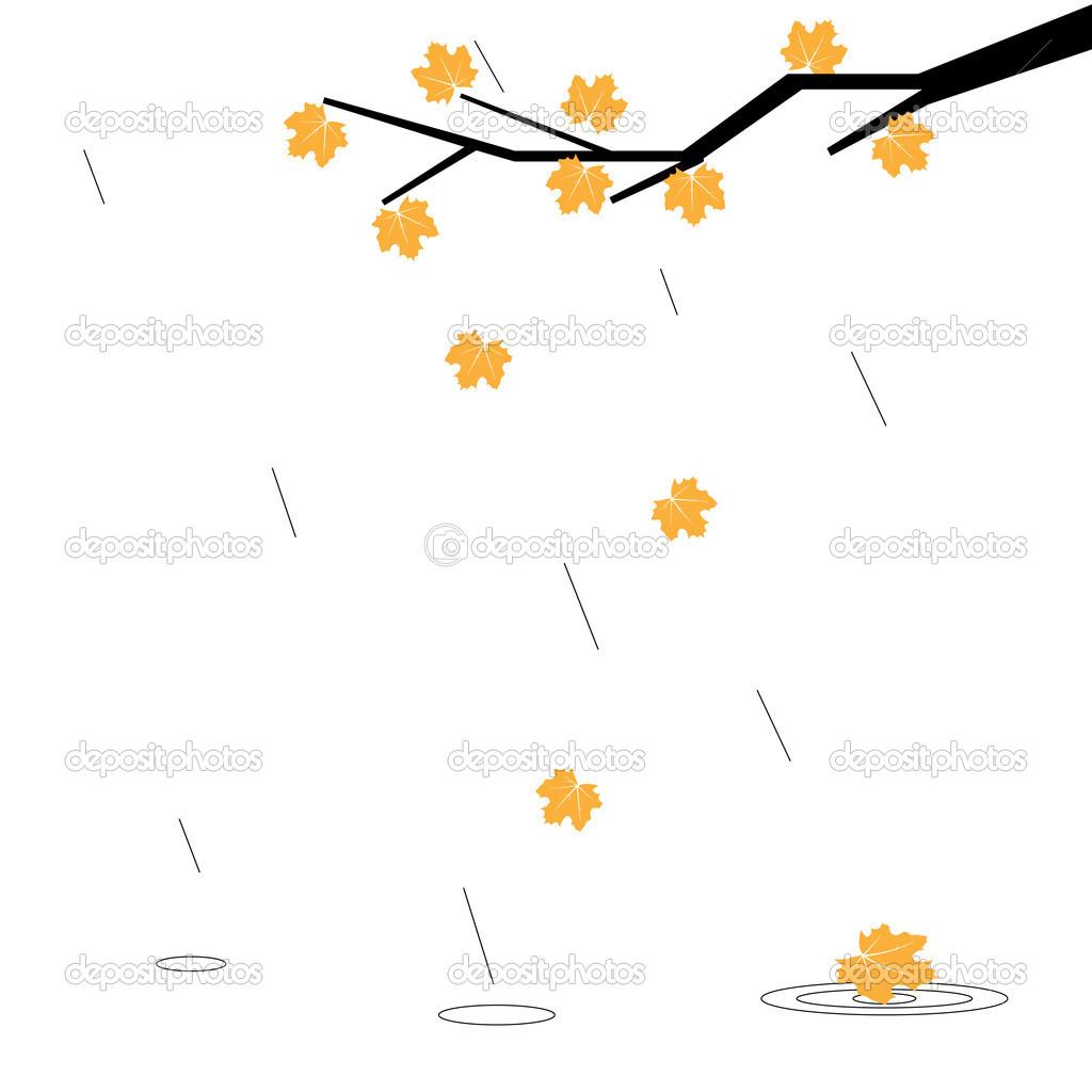 秋天的雨 — 图库矢量图片 #14072432