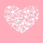 Hjärtsymbolen rosa — Stockvektor