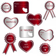 Valentines labels — Stock Vector