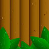Wooden fence — Stok Vektör